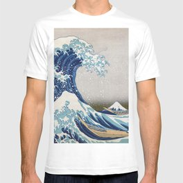 Under the Wave off Kanagawa - The Great Wave - Katsushika Hokusai T-shirt