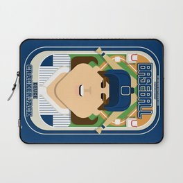 Baseball Blue Pinstripes - Deuce Crackerjack - June version Laptop Sleeve