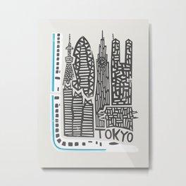 Tokyo Cityscape Metal Print