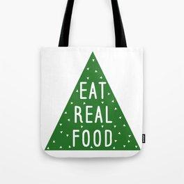 Eat Real Food Tote Bag