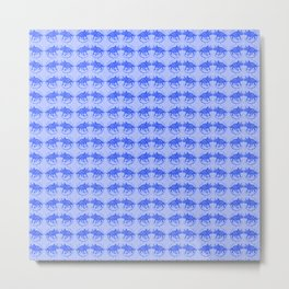 Blue Dinosaur Triceratops Pattern Ultra High Definition Metal Print