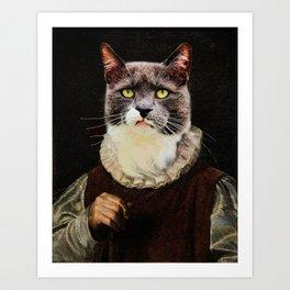 Aristocrati-Cat Art Print