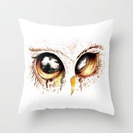 Bown owl eye Throw Pillow