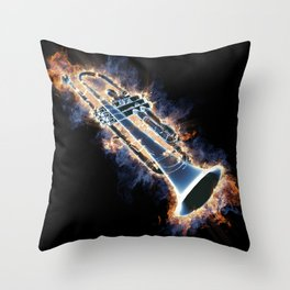 Fire trumpet in concert Throw Pillow