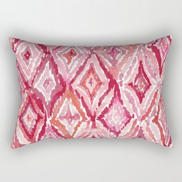 Red BRIGHT LIKE A DIAMOND Moroccan Print Rectangular Pillow