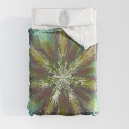 Abstract tie dye flower Duvet Cover
