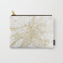 Bern Map Gold Carry-All Pouch