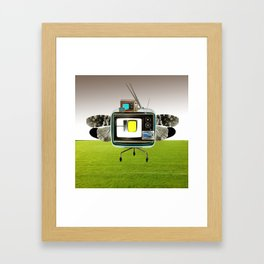 the truth is dead · the flying circus Framed Art Print