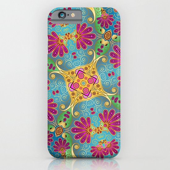 colorful flower pattern iPhone & iPod Case