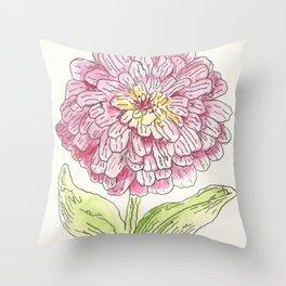 Zinnia Burst Throw Pillow