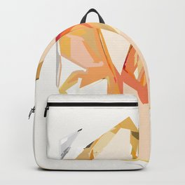 Golden Heart Abstract Art Print Backpack