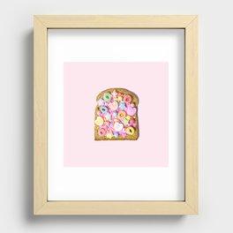 Pink Sugar Toast Recessed Framed Print