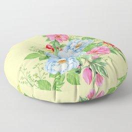Vintage Floral Pattern No. 4 Floor Pillow