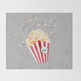 crazy popcorn Throw Blanket