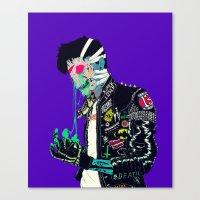 boneface Canvas Prints featuring Slime by boneface