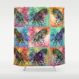 Cuttlefish Patchwork Shower Curtain