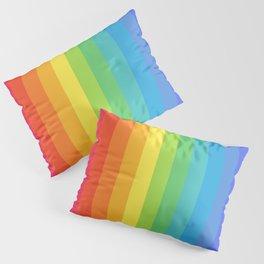 Solid Rainbow Pillow Sham