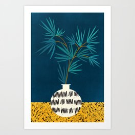 Night Palm Blues Art Print