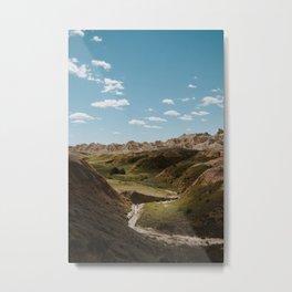 Yellow Mounds - Badlands National Park Metal Print