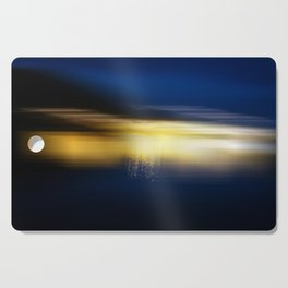 Blue and Gold Cutting Board