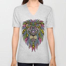 Lion face tangle Unisex V-Neck