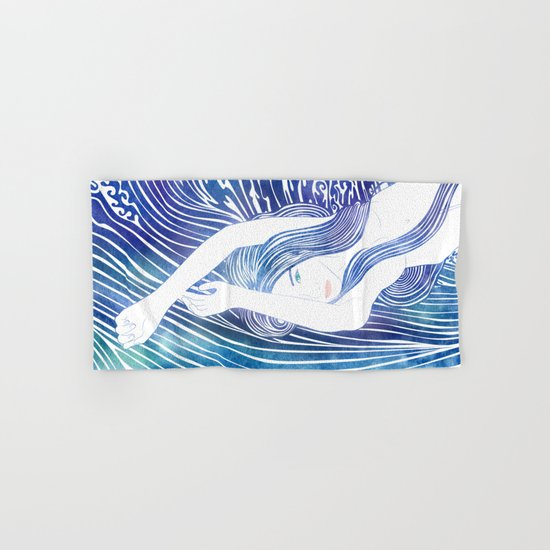 Water Nymph LVIII Hand & Bath Towel