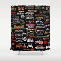 heavy metal Shower Curtains featuring Heavy Metal Ezmaya by ezmaya