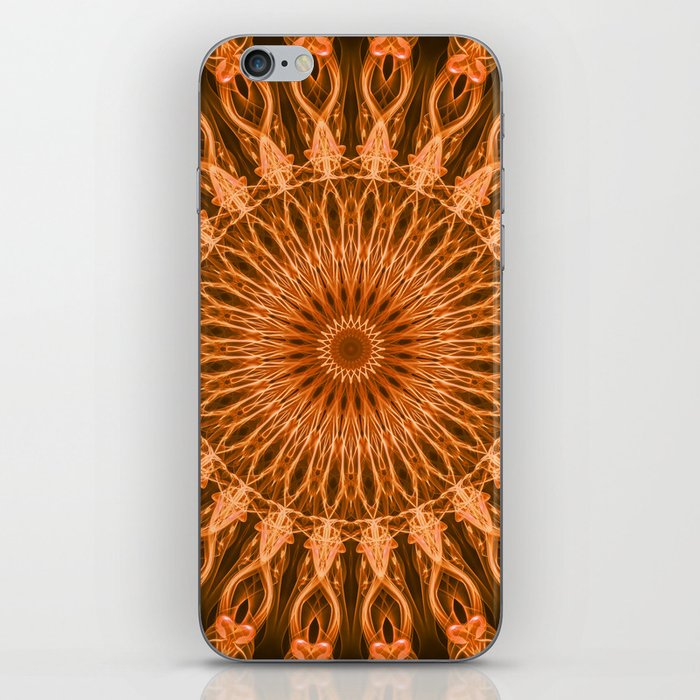 Pretty copper mandala iPhone Skin