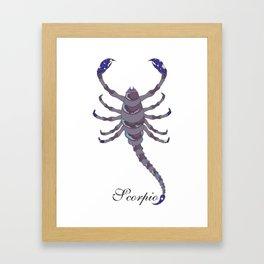 Starlight Scorpio Framed Art Print