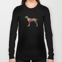 Wirehaired Slovakian Pointer in watercolor Long Sleeve T-shirt