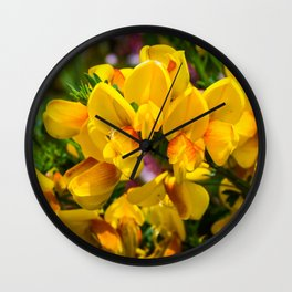 Scotch Broom Wall Clock