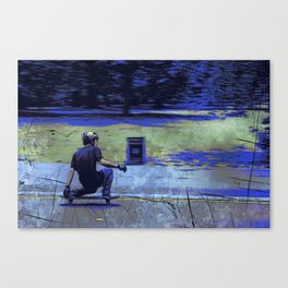 Just Cruisin'  - Skateboarder Canvas Print