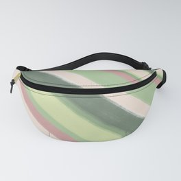 Painted abstract soft nature color stripes Fanny Pack