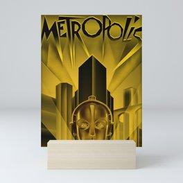 "Vintage 1927 ""Metropolis"" Movie Lithograph Advertisement Poster Mini Art Print"