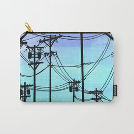 Industrial poles blue Carry-All Pouch