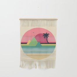 Tropical Sunset Wall Hanging