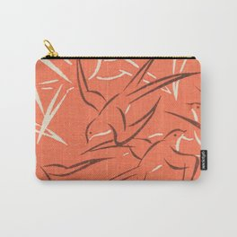 Retro Red Swallows Carry-All Pouch