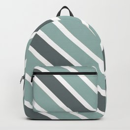 Chevron Shades of Gray & White Backpack