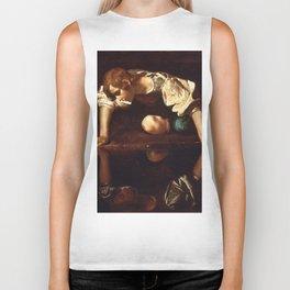 """Michelangelo Merisi da Caravaggio """"Narcissus"""" Biker Tank"""