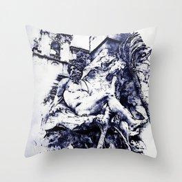 Rome, Piazza Navona Throw Pillow