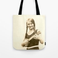 ursula Tote Bags featuring Ursula by Julia Kathryn