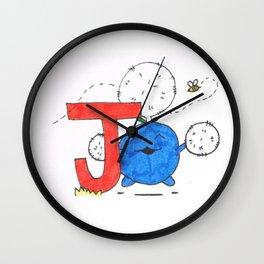 J is for Jumpluff Wall Clock