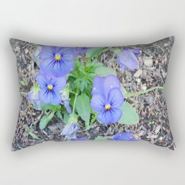 blue Pansy Rectangular Pillow