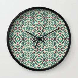 Bohemian Boho Ornament Pattern Wall Clock