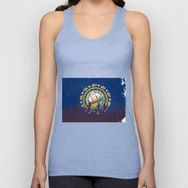 New Hampshire State Flag with Audience Unisex Tank Top