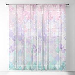 Mermaid Pastel Sheer Curtain
