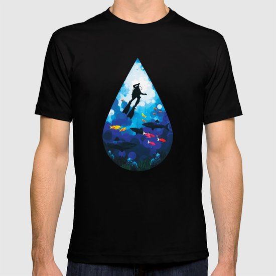 Diver of the Blue T-shirt