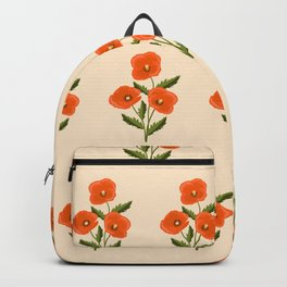 three red poppies Backpack