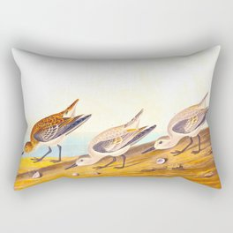 Sanderling Birds Rectangular Pillow