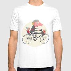 Biker Daddy Mens Fitted Tee White MEDIUM